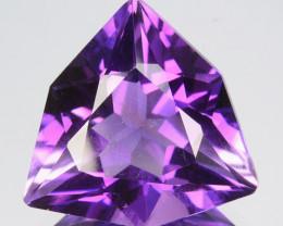 7.50 Cts Gorgeous Natural Purple Amethyst Trillion Custom Cut