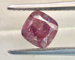 GIA Cushion 1.37ct Natural Fancy Pink Purple Loose Diamond