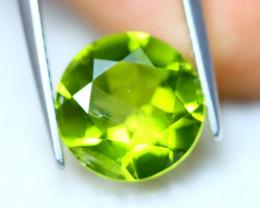 3.77Ct Natural Green Peridot Round Cut Lot B1321