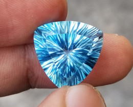Cancave Cut Blue Topaz 18.65 Carats