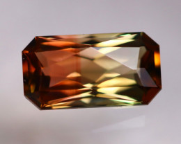 BiColor Tourmaline 2.33Ct Natural Tourmaline Designer Cutting AN43