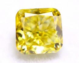 Yellow Diamond 0.17Ct Natural Untreated Fancy Yellow Color Diamond B0708