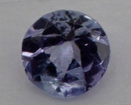 0.14 CT Round Cut Tanzanite 3.5 mm | Unheated
