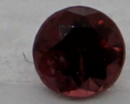 0.08 CT Round Cut Dark Red Spinel 2.7 mm   Unheated
