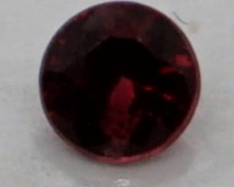 0.08 CT Round Cut Dark Red Spinel 2.7 mm | Unheated
