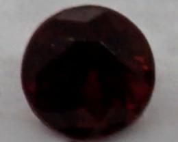 0.08 CT Round Cut Dark Red Spinel 2.7 mm | Unheated