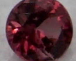 0.05 CT Round Cut Dark Red Spinel 2.5 mm | Unheated