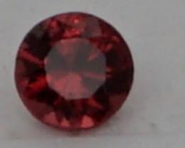 0.05 CT Round Cut Dark Red Spinel 2.5 mm | Unheated