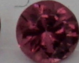 0.05 CT Round Cut Dark Red Spinel 2.5 mm   Unheated