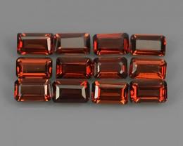 4.70 Cts_Marvelous octogon Natural Rhodolite_~parcel 12 pcs