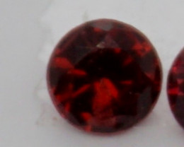0.10 CT Round Cut Dark Red Spinel 3 mm | Unheated