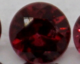 0.10 CT Round Cut Dark Red Spinel 3 mm | Unheated
