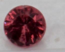 0.10 CT Round Cut Dark Red Spinel 3 mm   Unheated