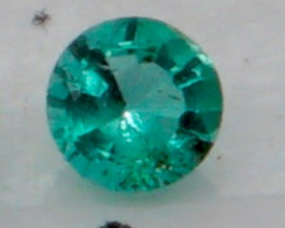 0.07 CT Round Cut Emerald 2.7 mm