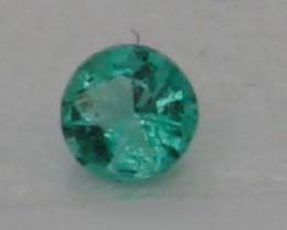 0.04 CT Round Cut Emerald 2.2 mm