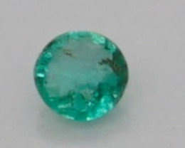 0.04 CT Round Cut Emerald 2.2 mm