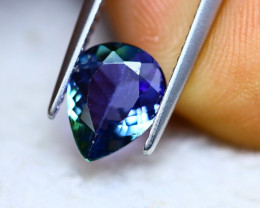 1.71ct Natural Violet Blue Tanzanite Pear Cut Lot GW5440