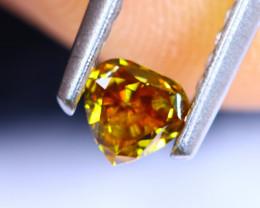 0.25cts Natural UNHEATED  YellowWish Diamond / RD576