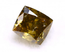 Green Diamond 0.20Ct Natural Untreated Fancy Green Color Diamond A0805
