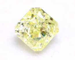 Yellow Diamond 0.38Ct Natural Untreated Fancy Yellow Color Diamond A0821