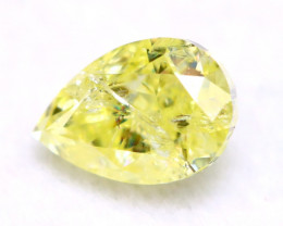 Yellow Diamond 0.32Ct Natural Untreated Fancy Yellow Color Diamond A0828