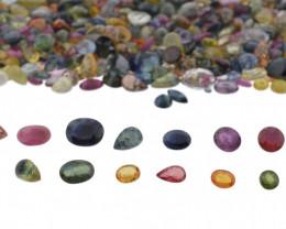 1ct Mixed Multi Colour Natural Sapphire - $1 NR Auction