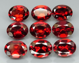 18.72 ct. Natural Hot Red Rhodolite Garnet Africa - 9 Pcs