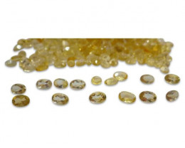 37 Stones - 14.8 ct Citrine 6x4mm Oval - $1 No Reserve Auction