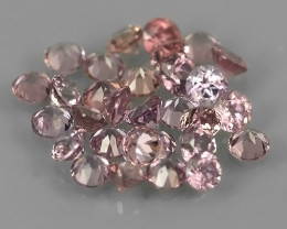 0.70 Cts Natural Intense Beautiful pink Sapphire round Shape Parcel!!!
