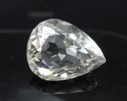 22.42 ct Pear Shape White Quartz - $1 NR Auction, Free Shipping