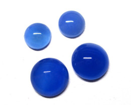 6.52tcw Blue Chalcedony Matching Round Cabochons