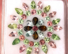 45pc Tourmaline Parcel 7.35cts  -  superb gems C36P