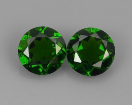 1.50 Cts MARVELOUS RARE ROUND NATURAL TOP GREEN- CHROME DIOPSIDE
