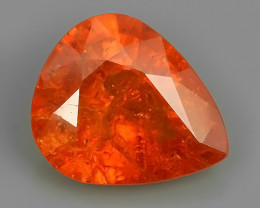 7.60 CTS BRILLIANT! 100%NATURAL HOT ORANGE MANDARIN SPESSARTITE GARNET