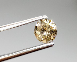0.91ct Fancy Grayish Brown Diamond , 100% Natural Untreated