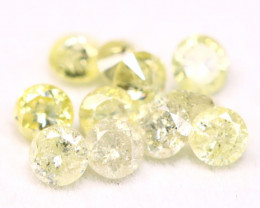 Yellow Diamond 0.84Ct 2.60mm Natural Untreated Yellow Diamond BM33