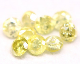 Yellow Diamond 0.62Ct 2.50mm Natural Untreated Yellow Diamond BM34