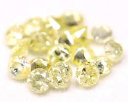 Yellow Diamond 0.74Ct 2.10mm Natural Untreated Yellow Diamond BM38