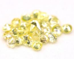 Yellow Diamond 0.60Ct 1.70mm Natural Untreated Yellow Diamond BM42
