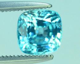 AAA Brilliance 1.95 ct Blue Zircon Cambodia ~ K