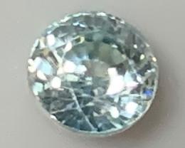 Satin  Blue Zircon  Gem  - No reserve