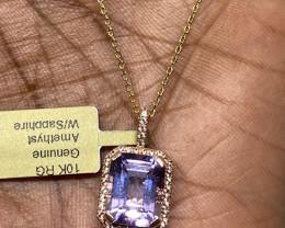 (LBA) $1200 Gorgeous Natural 6.29 Amethyst Pendant