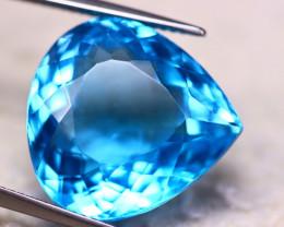25.92ct Natural Swiss Blue Topaz Pear Cut Lot V6229