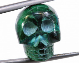 44.75 CTS - CHRYSOCOLLA SKULL CARVING   LT-297
