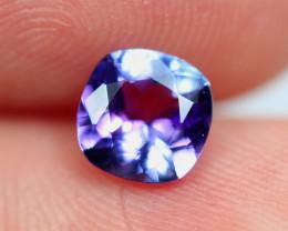 0.88cts Natural Violet Blue D Block Tanzanite / RD595