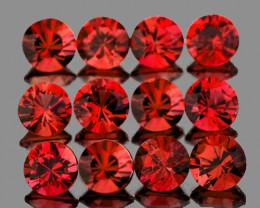 2.80 mm Round 12 pcs 1.15cts Orange Red Spinel [VVS]
