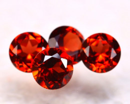 Garnet 2.44Ct 4Pcs Natural Spessartite Garnet E1106