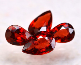 Garnet 2.59Ct 4Pcs Natural Spessartite Garnet E1109