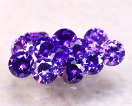 Amethyst 3.66Ct 12Pcs Natural Uruguay VVS Electric Purple Amethyst E1113