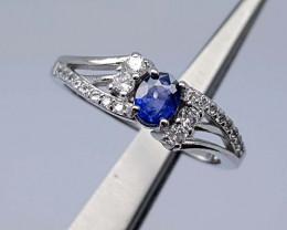 15Crt  Sapphire Ring 925 silver JIR05